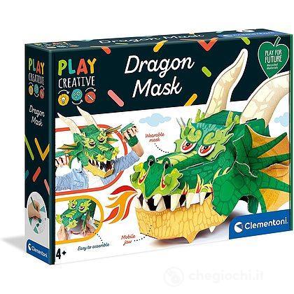 Maschera Dragone Maschera Tridimensionale In Cartone