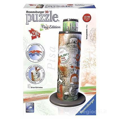 Puzzle 3d Torre di Pisa Flag Edition