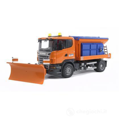 Scania R-series camion spargisale e spazzaneve