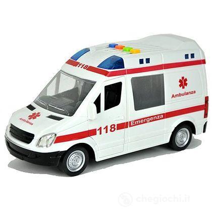 Ambulanza luci e suoni 1:16