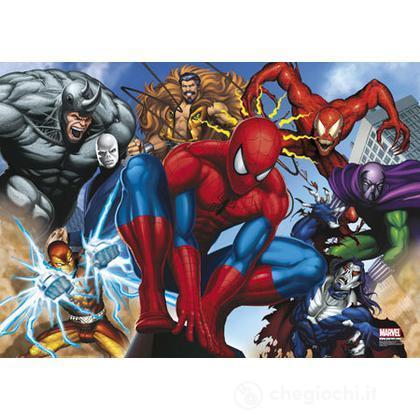 Puzzle 250 pezzi Spider-Man villans behind