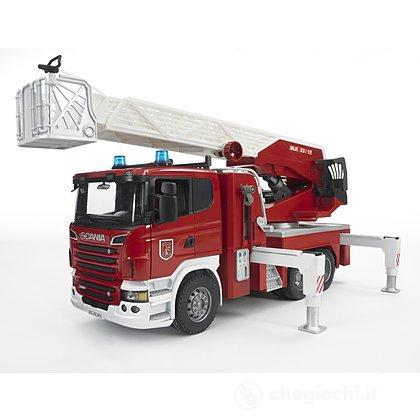 Scania R-Series autopompa Pompieri con luci e suono (3590)