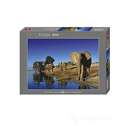 Puzzle 1000 Pezzi - Elefanti Assetati
