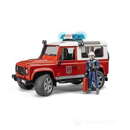 Land Rover Defender Station Wagon Pompieri, luci e suono e pompiere (02596)