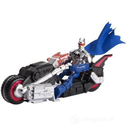 Batman Transforming Batcycle - Batman Personaggi con veicoli (BHC87)