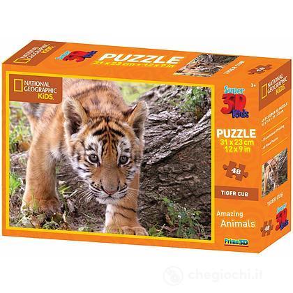 Puzzle 3D Animal Planet: tigre 48 pezzi