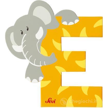 Lettera E Elefante