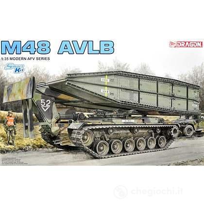 Mezzo militare M48 AVLB (Armored Vehicle Launched Bridge). Scala 1/35 (DR3606)