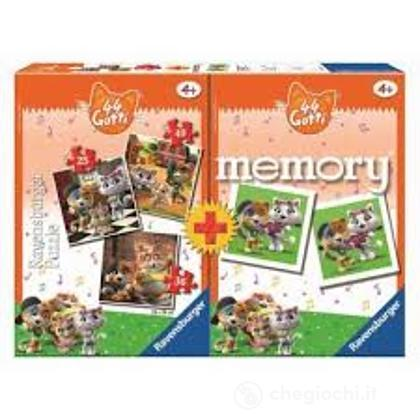 Memory Con 3 Puzzle 44 Gatti (20607)