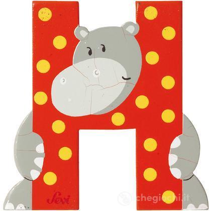 Lettera H Hippopotamus