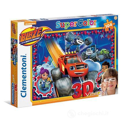 Puzzle 104 3D Blaze And The Monster Ma (20608)