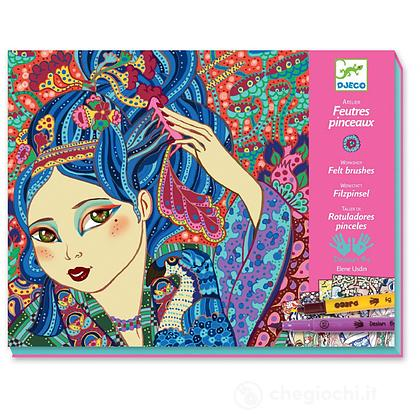 Cherry tree girls Crea i tuoi quadri con i pennarelli (DJ08613)