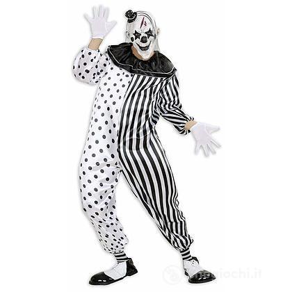 Costume Adulto killer pierrot pagliaccio XL