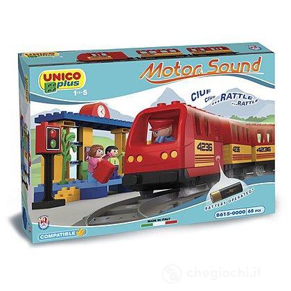 Unico Plus Stazione del Treno 68 pezzi funzionamento a batteria (104114305)