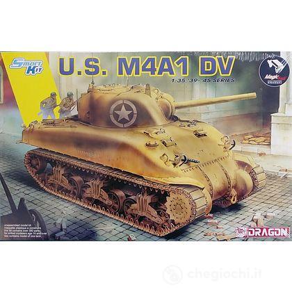 Carro Armato US M4A1 DV W/MAGIC TRACKS. Scala 1/35 (DR6618)