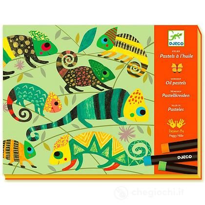 Pastelli a olio Coloured jungle DJ08618