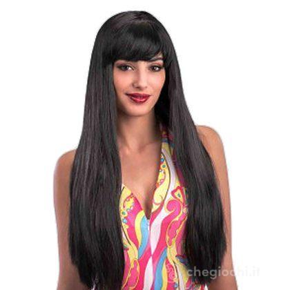 Parrucca nera lunghissima (02618)