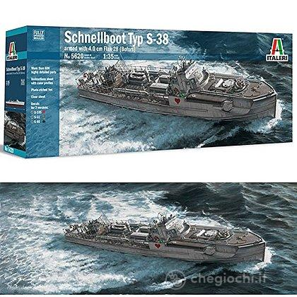 Nave Schnellboot Typ S-38 With 4.0Cm Flak 28 (Bofors) 1/35 (IT5620)