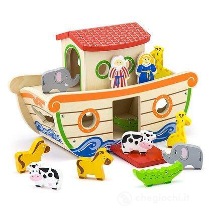 Arca di Noè in legno con incastri (VG51625)
