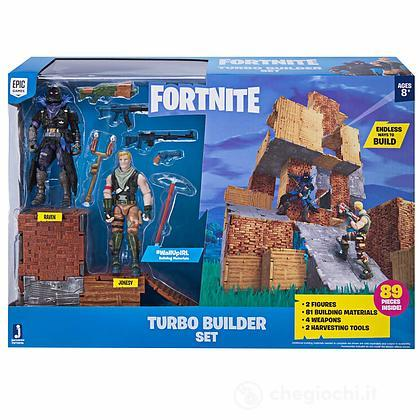 Fortnite Turbo Builder + 2 Personaggi 10 cm