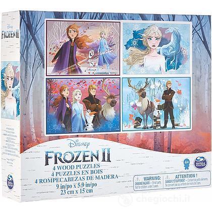 4 Puzzle Legno Frozen 2