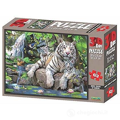 Puzzle 3D H. Robinson: Tigre del Bengala 63 pezzi