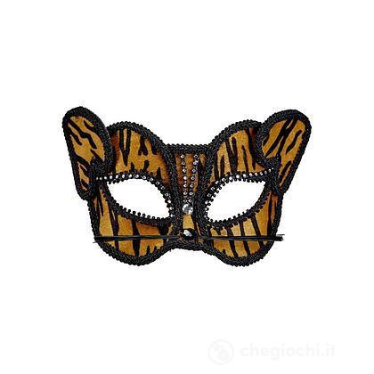 Maschera Tigre con Strass