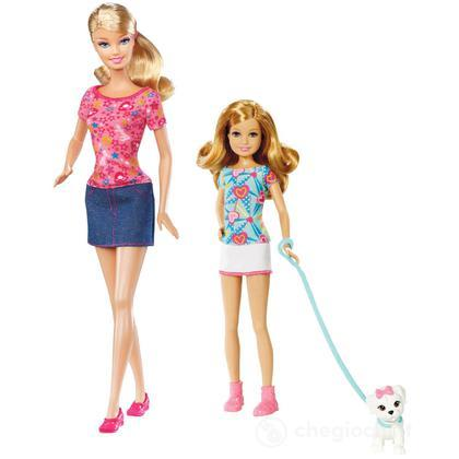 Barbie e le sue Sorelline - Barbie e Stacie con cane (W3285)