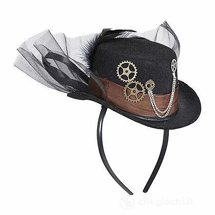 Cappello Mini Cilindro Steampunk 09645