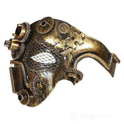 Maschera mezzoviso steampunk rame