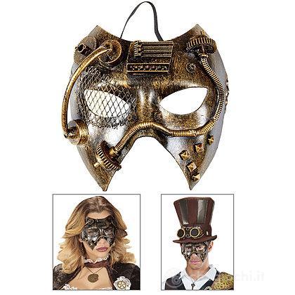 Maschera steampunk rame