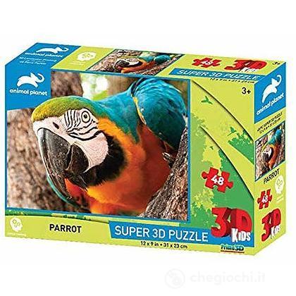 Puzzle 3D Animal Planet: Pappagallo 48 pezzi