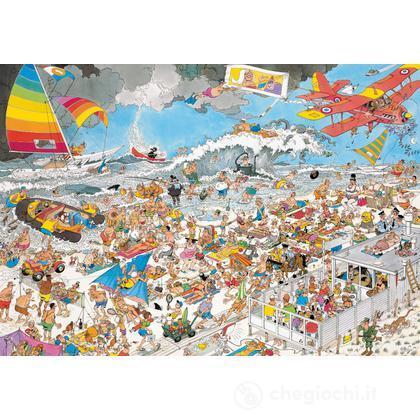 In spiaggia 1000 pezzi