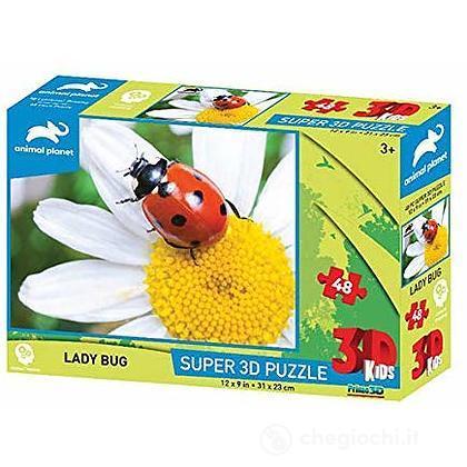 Puzzle 3D Animal Planet: Coccinella 48 pezzi