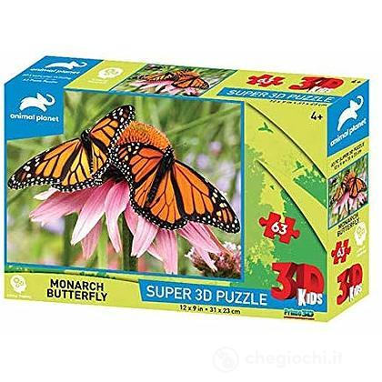 Puzzle 3D Animal Planet: Farfalla 63 pezzi