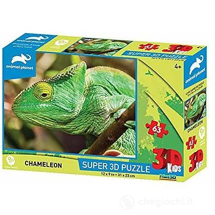Puzzle 3D Animal Planet: Cameleonte 63 pezzi