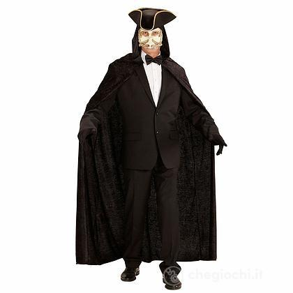 Mantello nero con cappuccio 150 cm (3266N)