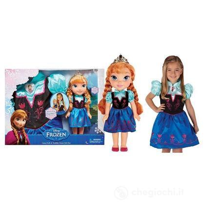 Bambola Frozen Anna e Abito da indossare per la bambina