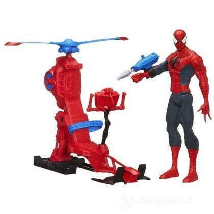 Spider-Man Elicottero + Action Figures 30 Cm (A6747E27)