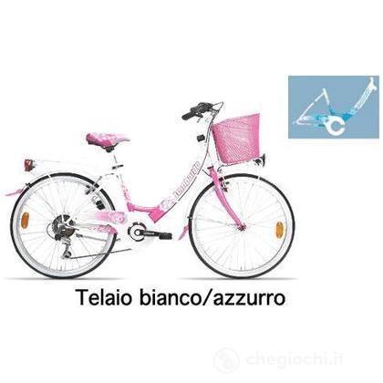 """Bici 24"""" Rimini 6v white/skyblue"""