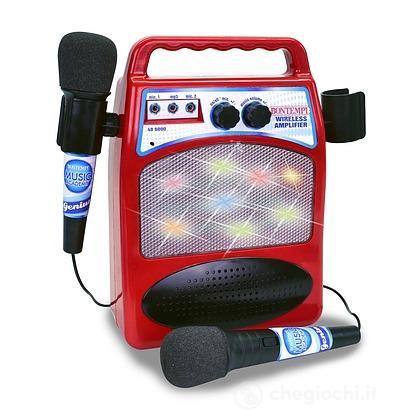 Amplificatore Wireless Con 2 Microfoni
