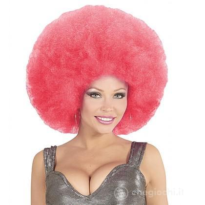Parrucca afro rosa