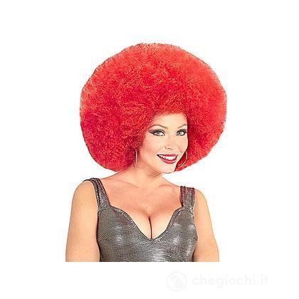 Parrucca afro rossa
