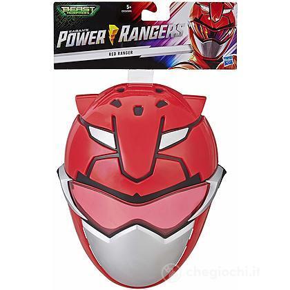 Power Rangers- Beast Morphers Maschera Role Play, Rosso