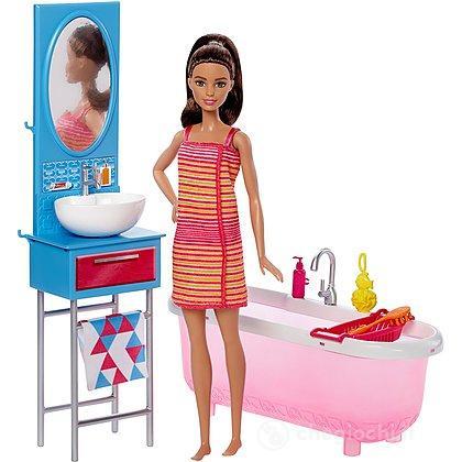 Barbie e i suoi arredamenti Bagno (DVX53)