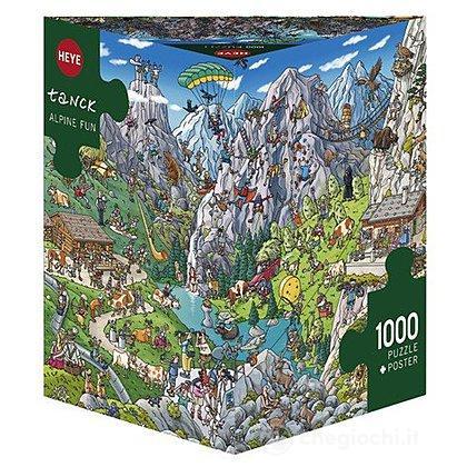 Puzzle 1000 Pezzi Triangolare - Divertimento Alpino