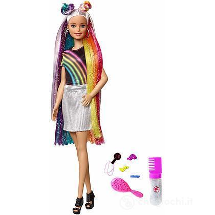Barbie Bambola con Capelli Arcobaleno e Tanti Accessori (FXN96)