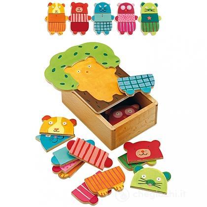 Tree cuddly puzzle legno DJ01681