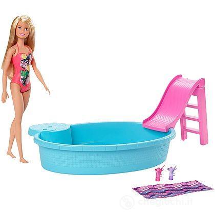Barbie Playset Bambola con Piscina (GHL91)