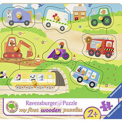 I Miei Veicoli Preferiti. Puzzle in legno 10 pezzi (03684)